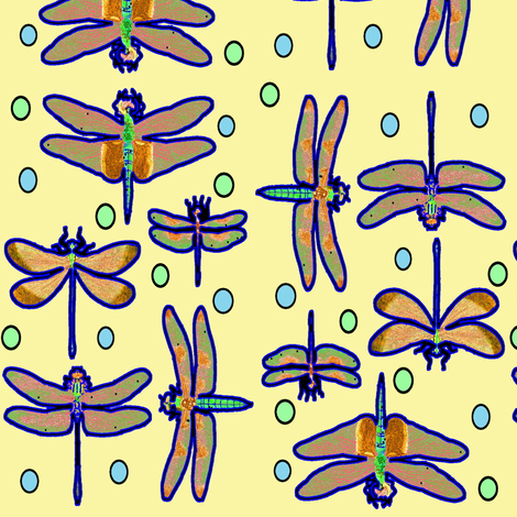 Dragonflies fabric by nalo_hopkinson on Spoonflower - custom fabric