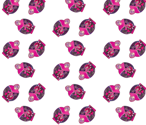 pink matrioschka dance fabric by nadja_petremand on Spoonflower - custom fabric