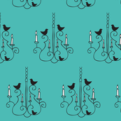 Chandelier & Birds