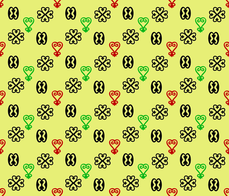 Adinkra fabric by nalo_hopkinson on Spoonflower - custom fabric