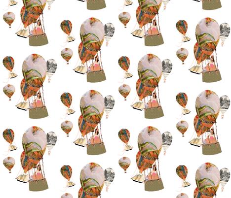 Hot Air Balloon Dreams fabric by karenharveycox on Spoonflower - custom fabric