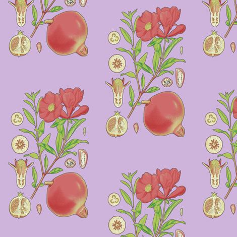 Pomegranate fabric by nalo_hopkinson on Spoonflower - custom fabric