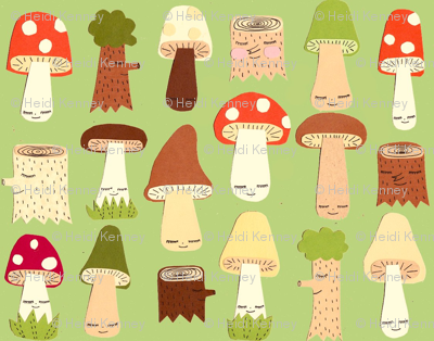mushroom and forest friends
