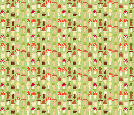 mushroom and forest friends fabric by heidikenney on Spoonflower - custom fabric