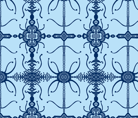 JamJax Blue Blues fabric by jamjax on Spoonflower - custom fabric