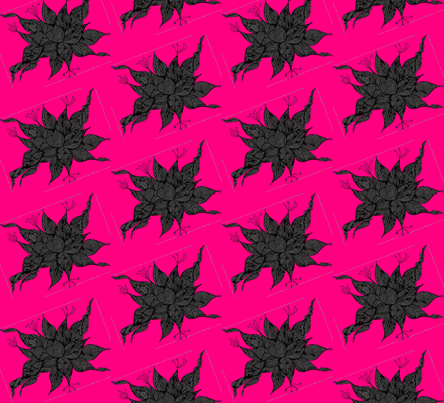 JamJax Pink Black Tilt fabric by jamjax on Spoonflower - custom fabric