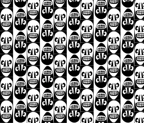 What're You Grinning At? fabric by nalo_hopkinson on Spoonflower - custom fabric