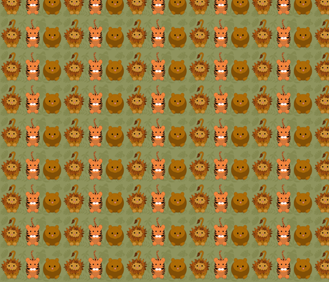 lion_and_tiger_and_bear_jungle_jpg1 fabric by vo_aka_virginiao on Spoonflower - custom fabric
