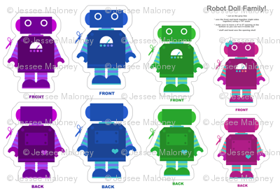 Robot Family Doll Panel