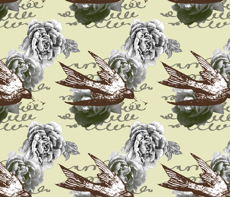 Caroline - Fern Colorway fabric by giltgoods on Spoonflower - custom fabric