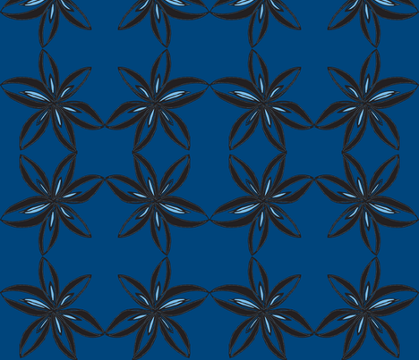 JamJax Blue Peony fabric by jamjax on Spoonflower - custom fabric