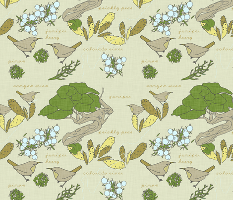 southwest_juniper_fabric_ fabric by holli_zollinger on Spoonflower - custom fabric