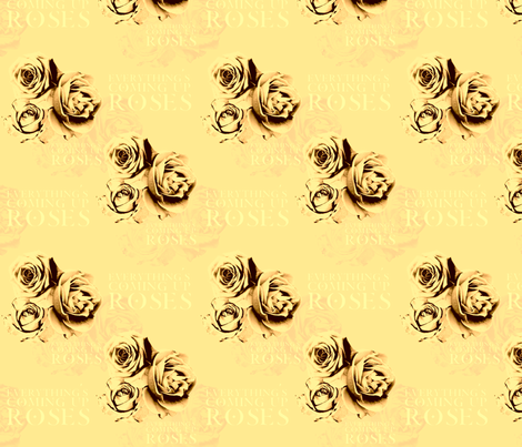 ComingUpRoses-Golden fabric by tammikins on Spoonflower - custom fabric