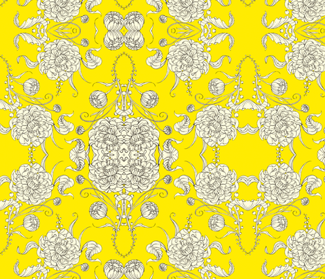 Sunny Bloom fabric by tamara on Spoonflower - custom fabric