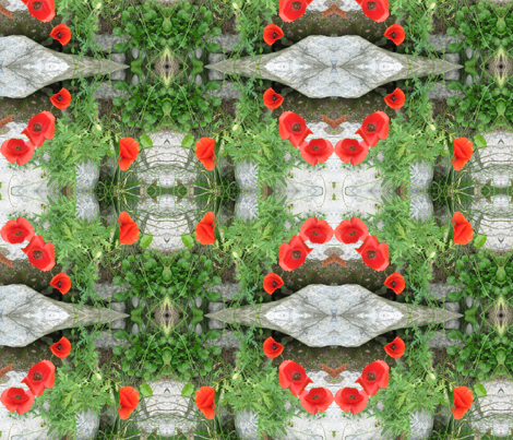 Poppies fabric by pinkchamplain on Spoonflower - custom fabric