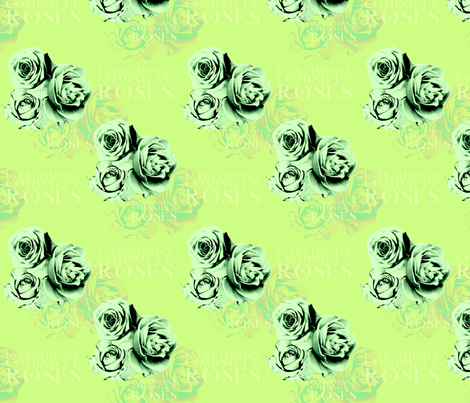 ComingUpRoses-Leafy fabric by tammikins on Spoonflower - custom fabric