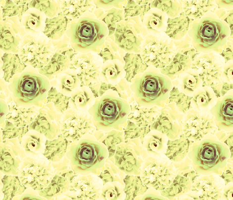 RomanticRoses-Leafy fabric by tammikins on Spoonflower - custom fabric
