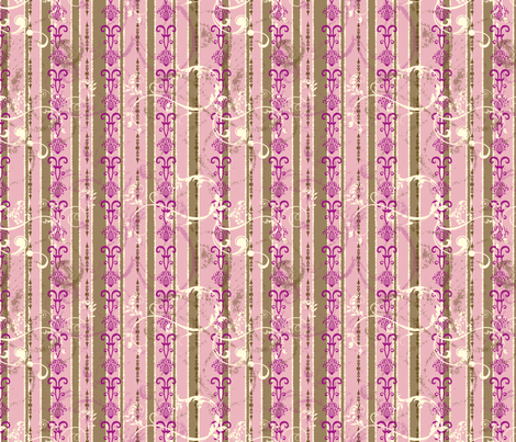 ArtHerstoryStripes-Pink fabric by tammikins on Spoonflower - custom fabric