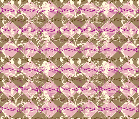 ArtHerstoryTiles-Pink fabric by tammikins on Spoonflower - custom fabric