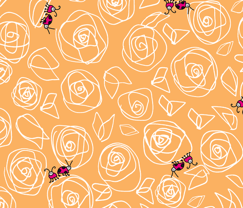roses and visitors fabric by musterartig on Spoonflower - custom fabric