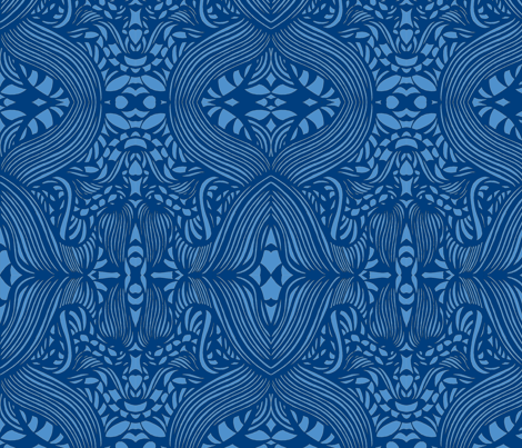 JamJax Pretty in Blue fabric by jamjax on Spoonflower - custom fabric