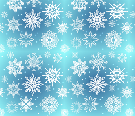 Let it Snow fabric by lacefairy on Spoonflower - custom fabric