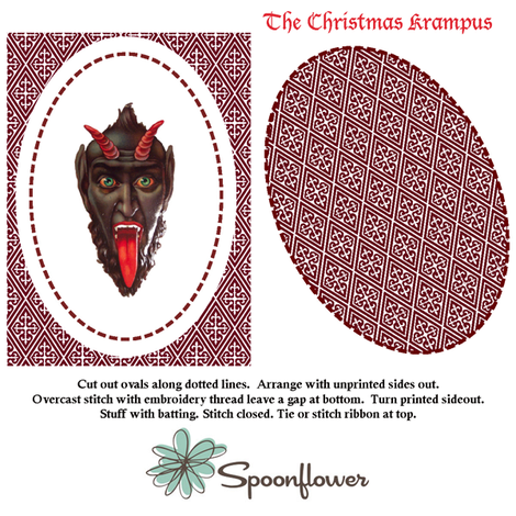 Krampus ornament fabric by stephen_of_spoonflower on Spoonflower - custom fabric