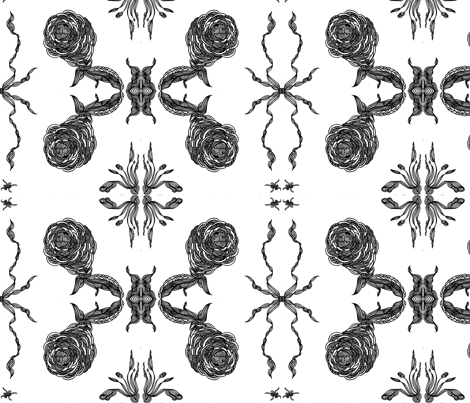 JamJax Rose Tatoo fabric by jamjax on Spoonflower - custom fabric