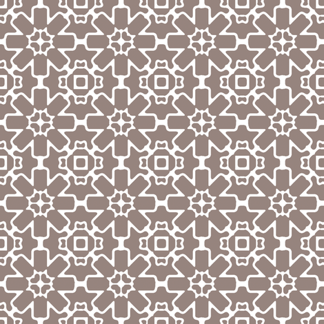 Brown Berry Star fabric by kristopherk on Spoonflower - custom fabric
