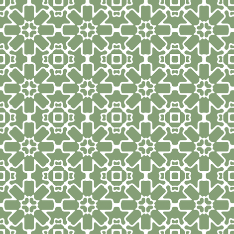 Green Berry Star fabric by kristopherk on Spoonflower - custom fabric