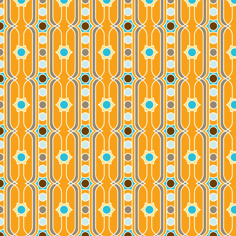 Summersault Stripe - Earthy Colorway fabric by heatherdutton on Spoonflower - custom fabric