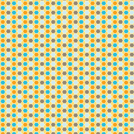 Honeycomb - Earthy Colorway fabric by heatherdutton on Spoonflower - custom fabric