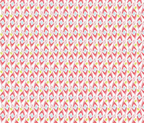 Rockweed - Coral Colorway fabric by heatherdutton on Spoonflower - custom fabric