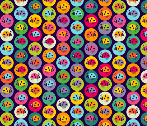Spot the Bug fabric by spellstone on Spoonflower - custom fabric