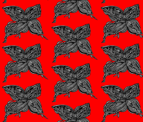 JamJax Bright Red Butterfly fabric by jamjax on Spoonflower - custom fabric