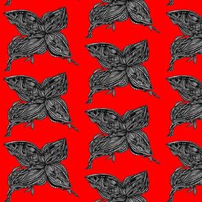 JamJax Bright Red Butterfly