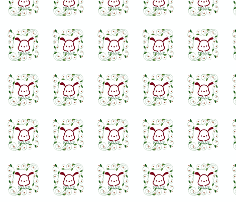 A dog named Tilly fabric by delphinethebear on Spoonflower - custom fabric