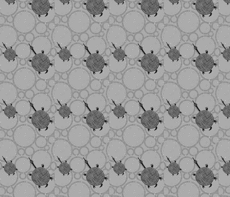 Turtle Grey-113 fabric by kkitwana on Spoonflower - custom fabric