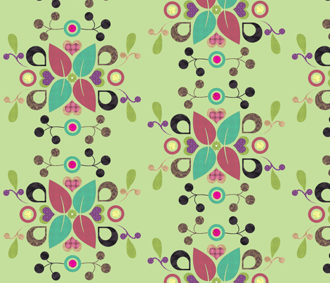 folklore_damask_lime fabric by snork on Spoonflower - custom fabric