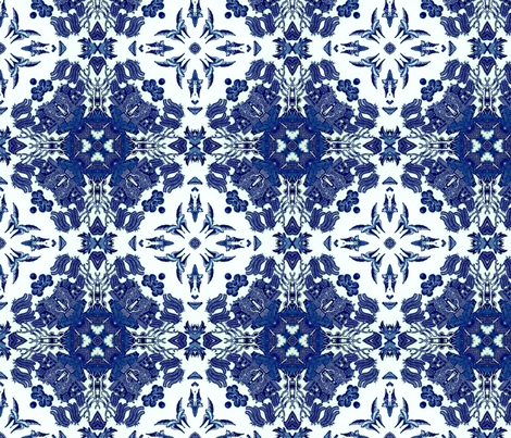 Blue Willow-06 fabric by lacefairy on Spoonflower - custom fabric