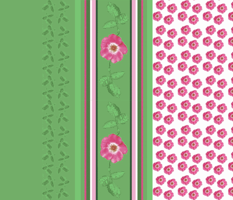 rose_border_1a-b-c-d-ch fabric by khowardquilts on Spoonflower - custom fabric