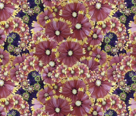 Spiral Flower Field fabric by helenklebesadel on Spoonflower - custom fabric