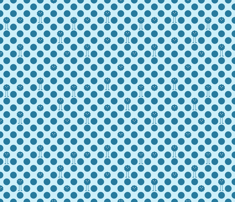 Monster Polka Dots - Boy fabric by jesseesuem on Spoonflower - custom fabric