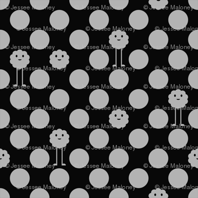 Monster Polka Dots - Black