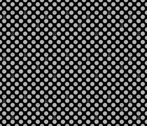 Monster Polka Dots - Black fabric by jesseesuem on Spoonflower - custom fabric