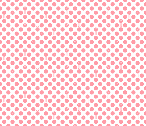 Monster Polka Dots - Girl (white background) fabric by jesseesuem on Spoonflower - custom fabric