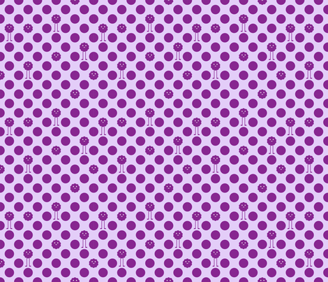 Monster Polka Dots - Purple fabric by jesseesuem on Spoonflower - custom fabric