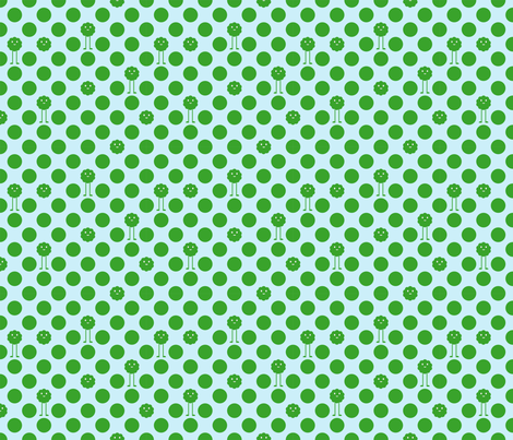Monster Polka Dots - Boy (green dots) fabric by jesseesuem on Spoonflower - custom fabric