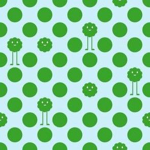 Monster Polka Dots - Boy (green dots)