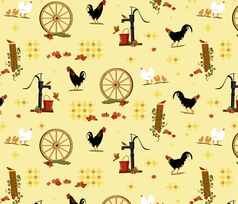 Farmyard Idyll fabric by muhlenkott on Spoonflower - custom fabric